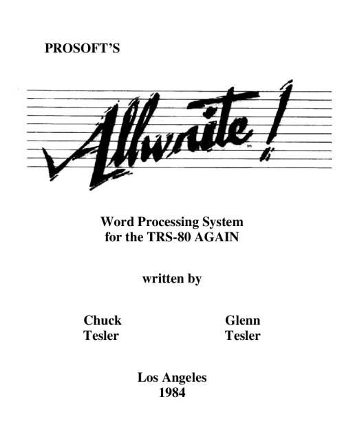TRS-80 – Software Manuals